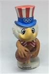Vintage 1984 Olympic Games Los Angeles Mascot Sam The Eagle BASKETBALL Figurine