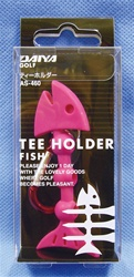 Tee Holder - Pink  Holds three tees  Carabiner clip makes it easy to secure to belt or golf bag