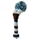 Knit head cover 3 wood blue Daiya Golf